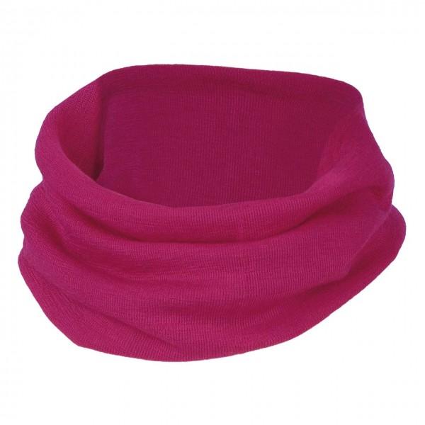 Schlauchschal pink Wolle Seide 3-10 Jahre