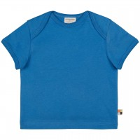 Leichtes Uni Kurzarm Shirt Basic in blau