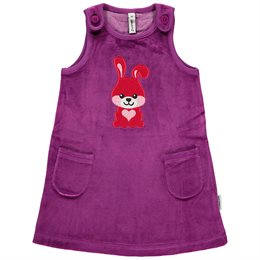 Warmes Velours Kleid Hase