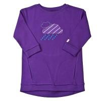 Interlock Kleidchen mit Taschen lila