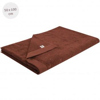 Frottee Handtuch braun 50x100