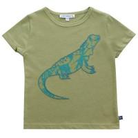 Leguan Bio T-Shirt olive mit Aufnäher