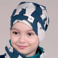 warme Beanie gefüttert Nicki Polarbären dunkelblau