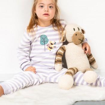 Kuschliger Frottee Schlafanzug Igel hell-lila
