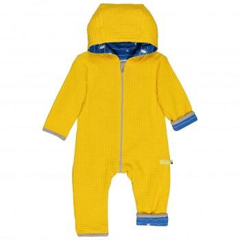 Warmer Wende-Strickoverall Pinguine + Robben gelb
