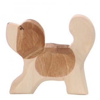 Bernhardiner klein Holzfigur 5 cm hoch