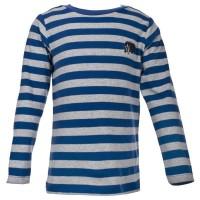 Vorschau: Langarmshirt für Jungen - kühle Tage blau mit Dachs