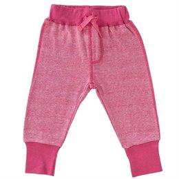 Babyhose leicht Bündchen rosa pink melange