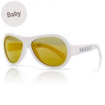 Baby flexible Sonnenbrille 0-3 Jahre  uni weiß polarisiert
