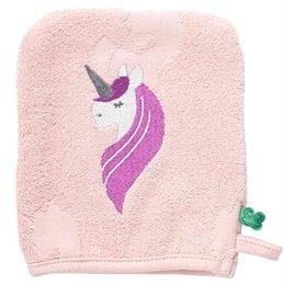 Rosa Einhorn Bio Waschhandschuh
