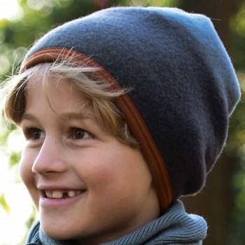 Fleece Kindermütze in anthrazit-grau