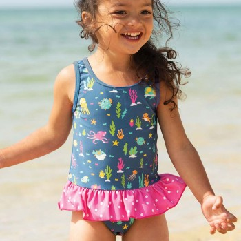 Mädchen Badeanzug Meerestiere