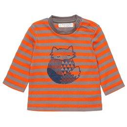 Dickeres Fuchs Shirt Druckknöpfe orange beige