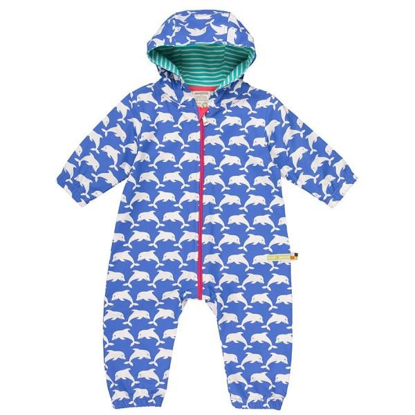 2e54efe2dd7b83 Loud and Proud Bio Babyoverall Sommer Delfin blau