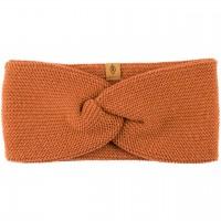 Wolle Seide Stirnband karamell-braun