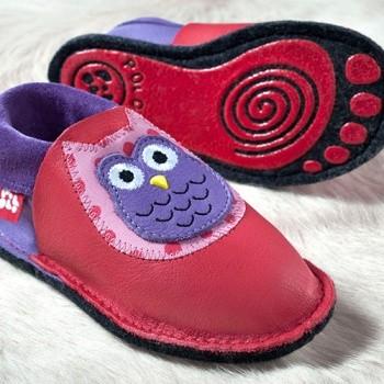 "Kindergarten Softschuh ""Eulalia"" + rutschfester Silikon-Filz"