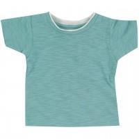 Slub Jersey Uni Shirt kurzarm türkis