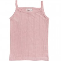 Pointelle Mädchen Trägerhemd in rosa