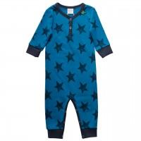 Blauer Strampler Sterne Druckknöpfe