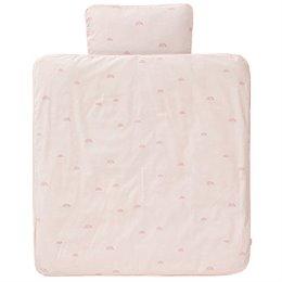 Bettwäsche Regenbogen rosa 100x135