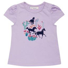 Bio T-Shirt lila mit Pferde Motiv