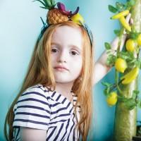 Vorschau: Leichtes Sommerkleid für Mädchen natur navy