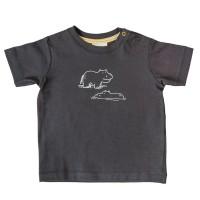 T-Shirt mit süssem Nilpferd anthrazit