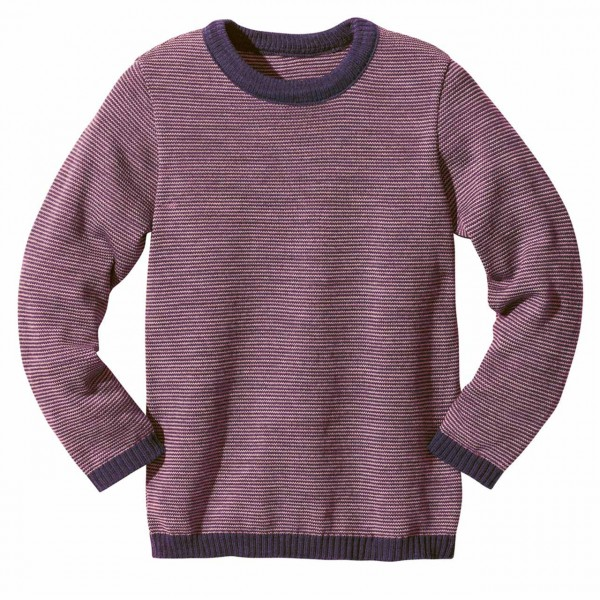 Wolle Basic Pullover in lila