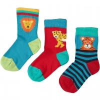 Baby Socken 3er Set Löwe und Tiger