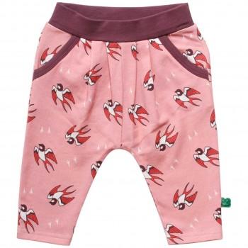 Leichte rosa Krabbelhose Vogel