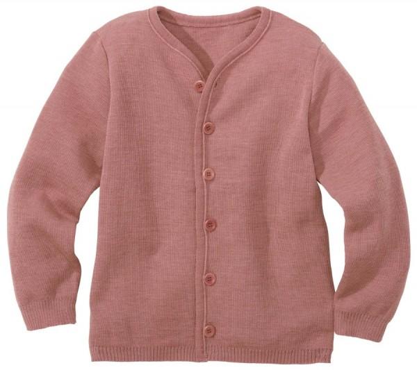 Leichte warme Strickjacke Wolle atmungsaktive rosa