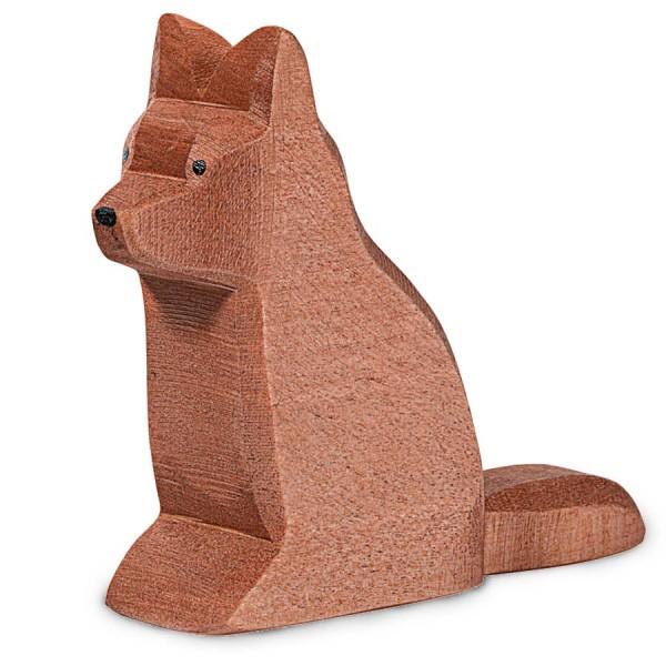 Schäferhund Holztier 7,5 cm hoch