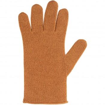 Damen Fingerhandschuhe Wolle Kaschmir braun