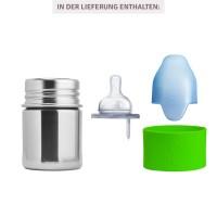Vorschau: Pura kiki Babyflasche Edelstahl mit langsamen Sauger - grün