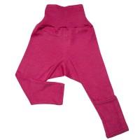 Mitwachsende Wolle Seide Hose pink Kratzschutz