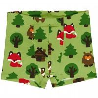 Boxershorts Wald Tiere in grasgrün