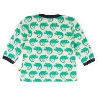 Vorschau: Loud and Proud Bio Shirt langarm mit Geckos grün