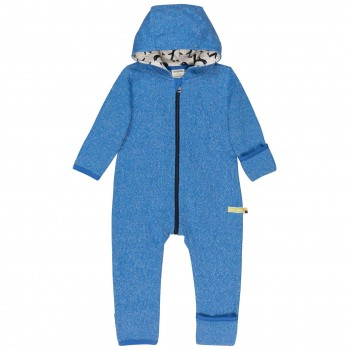 Warmer Strickoverall Pinguin blau