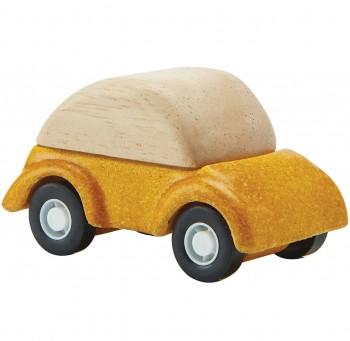 Spielzeug Auto aus Holz ab 3 Jahren gelb - 6 cm lang