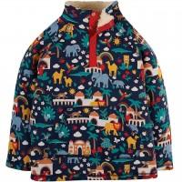 Plüsch Pullover Tiere indigo