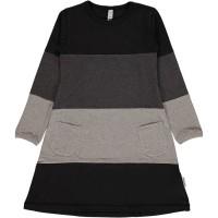 Modernes Kleid in Schwarz- Grautönen