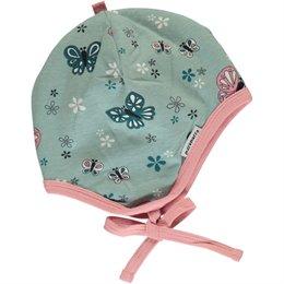 Schmetterling Babymütze hellblau
