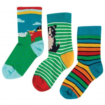 Kinder Bio Socken 3er Pack Highland Farm