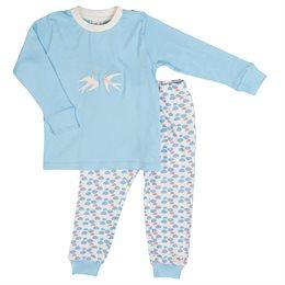 Bio Schlafanzug Mädchen leicht dehnbar Wolke