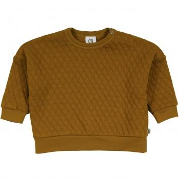 Gestepptes Sweatshirt in safran
