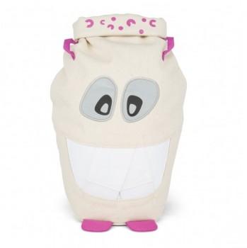 Bio Rucksack Monster Zahn mit Augen-Reflektoren natur pink