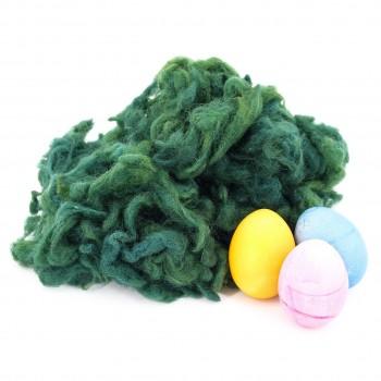 Ostergras Flocke, pflanzengefärbt Tannengrün, 40 g