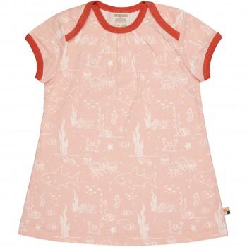 sommerliches Kleid Meereswelt rosa