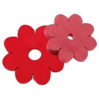 Knüpfblumen Set, Rottöne