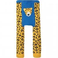 Strick Leggings Leopard in gelb